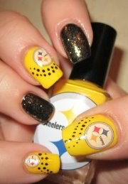 steelers manicure